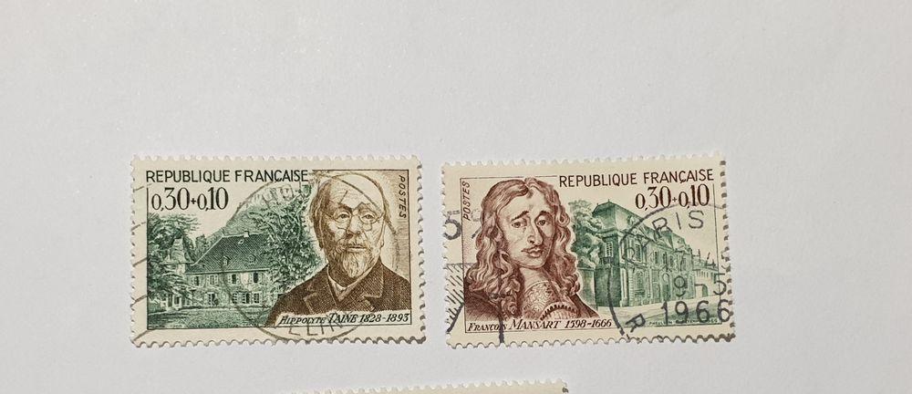 Timbre france Série personnages célèbres 1966 lot 0.16 euro 0 Marseille 9 (13)