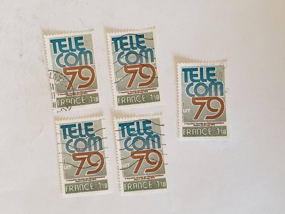 Timbre france TELECOM 79 -1979- lot 0.40 euro 0 Marseille 9 (13)