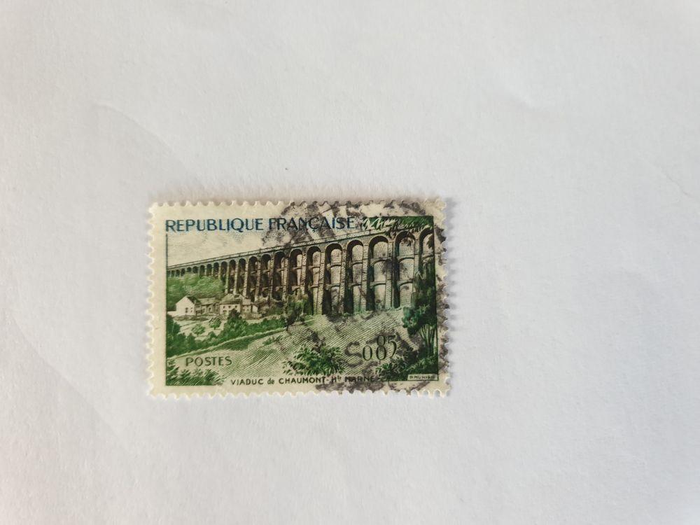 Timbre france Viaduc de Chaumont 1960 -0.06 euro   0 Marseille 9 (13)