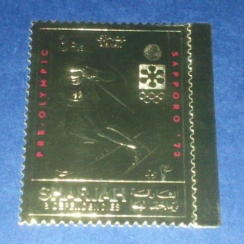Timbre OR Neuf ** - Jeux Olympiques Sapporo 1972 - Ski 5 Souvigny (03)