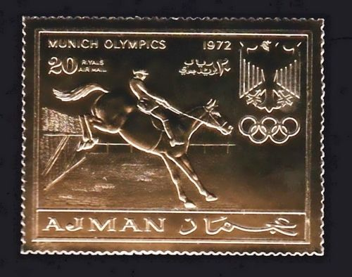 Timbre OR Neuf ** - Jeux Olympiques Munich 1972 - Equitation 5 Souvigny (03)