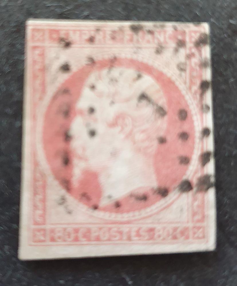 Timbre numéro 17Aa oblitéré 8 Joué-lès-Tours (37)