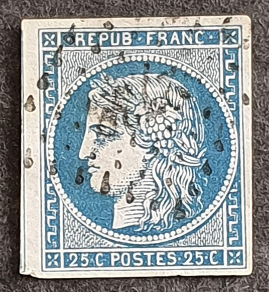 Timbre numéro 4 oblitéré 7 Joué-lès-Tours (37)