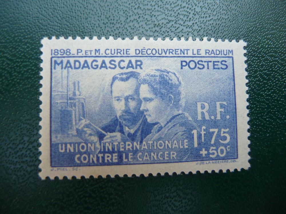 timbre pierre et marie curie madagascar neuf 5 Fabrègues (34)