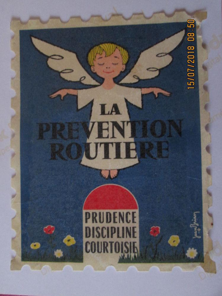 timbre prévention routière 5 Épernay (51)