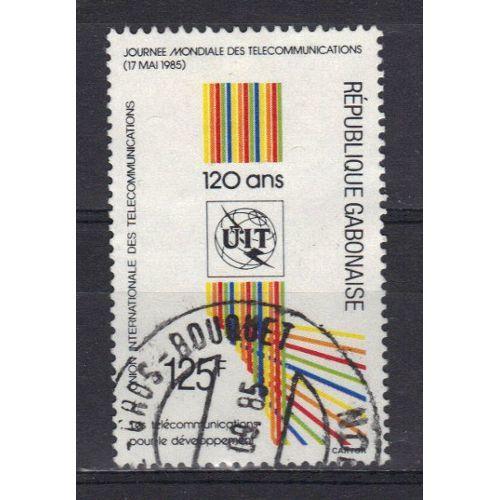 timbre république gabonaise journée telecommnications 0 Le Trévoux (29)