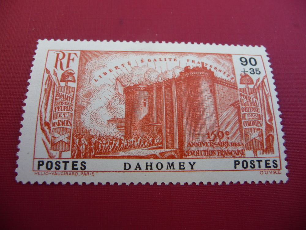 timbre serie coloniale  dahomey  n 117  neuf 4 Fabrègues (34)