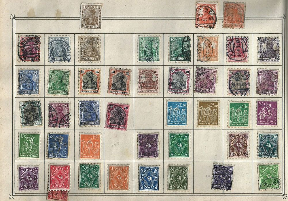 Timbre, 94 timbres d'allemagne , 2 pages 72 Tours (37)