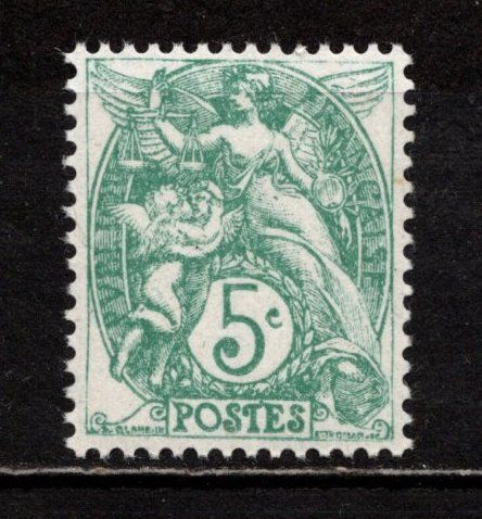 Timbre Type Blanc n° 111**, superbe, cote 5,00 € 1 Cholet (49)