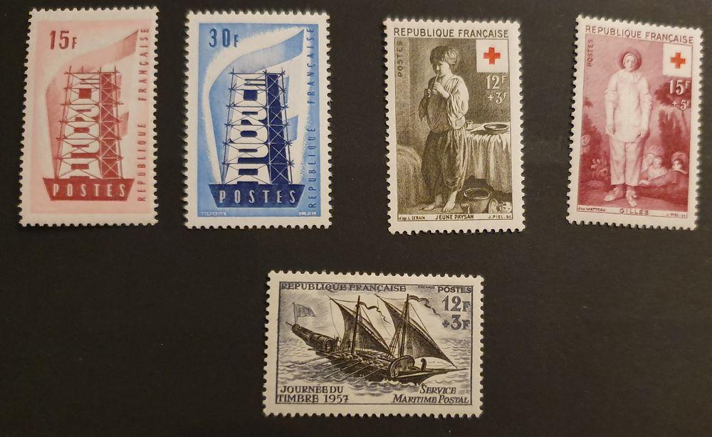 Timbres 1076 - 1077 ? 1089 ? 1090 et 1093 avec charnière 1 Joué-lès-Tours (37)