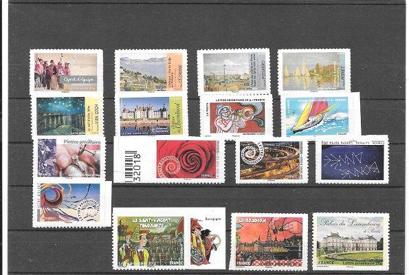 lot de 16 timbres adhésifs 25 Maubeuge (59)