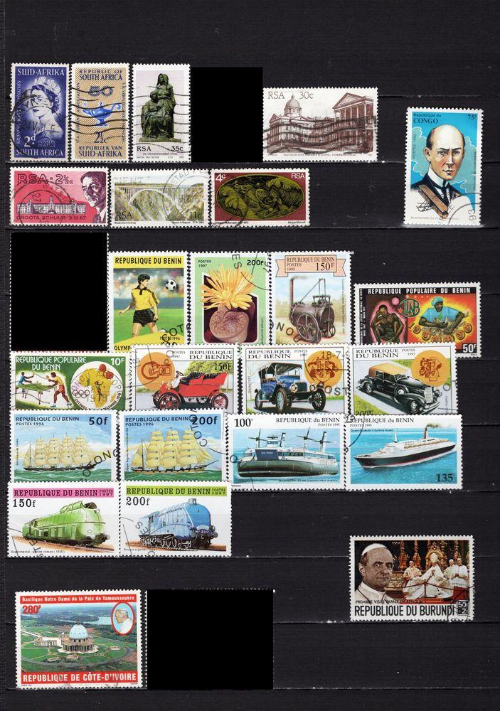 lot de 80 timbres d'AFRIQUE 5 Les Églisottes-et-Chalaures (33)
