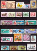 Lot timbres anciens (110 t) Mongolie 4 Berre-l'Étang (13)