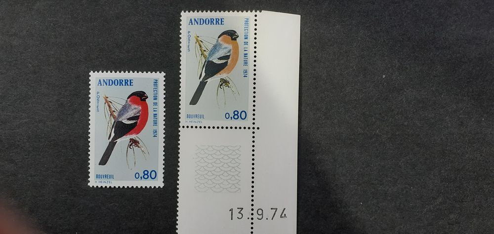 TIMBRES ANDORRE VARIETES XX.SUPERBES.  5 Lille (59)