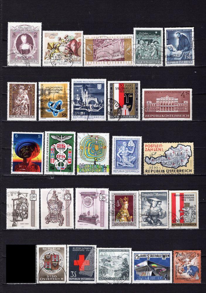 lot de 30 timbres d'AUTRICHE 1 Les Églisottes-et-Chalaures (33)
