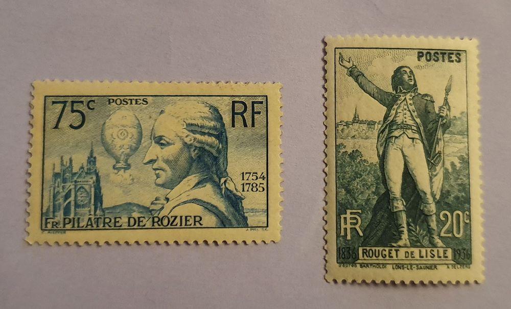 313 et 314 timbres avec charnière 6 Joué-lès-Tours (37)