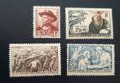 495 à 498 timbres avec charnières 1 Joué-lès-Tours (37)