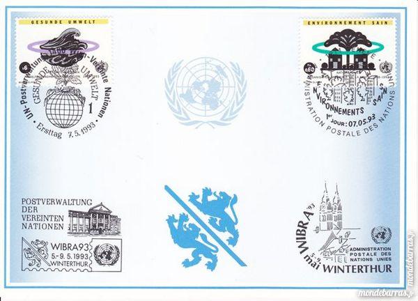 Timbres _ carte postale nations unies - etat neuf 1 Joué-lès-Tours (37)