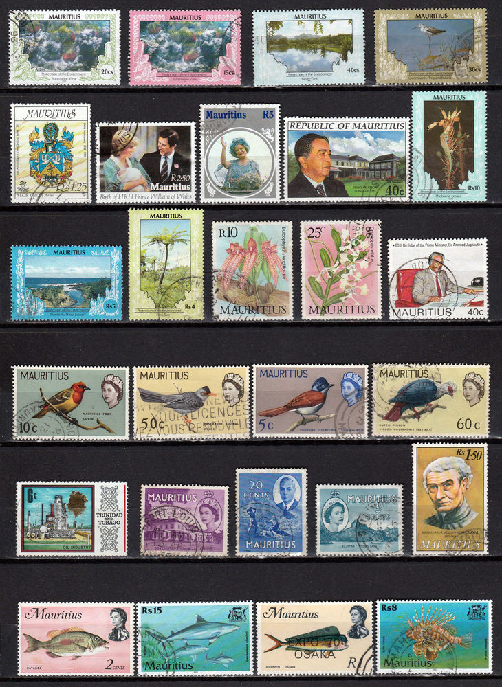 Timbres colonie anglaise Île Maurice Mauritius  4 Berre-l'Étang (13)