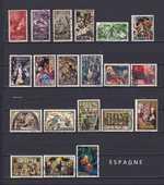 20 timbres d'ESPAGNE sur NOEL 2 Les Églisottes-et-Chalaures (33)