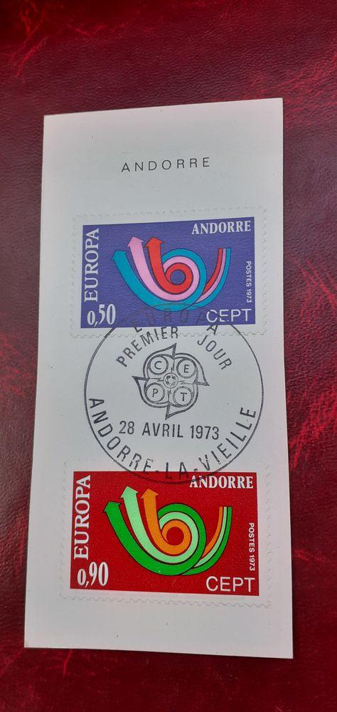 TIMBRES EUROPA ANDORRE 226.227 OBLITERES AVEC CACHET TB