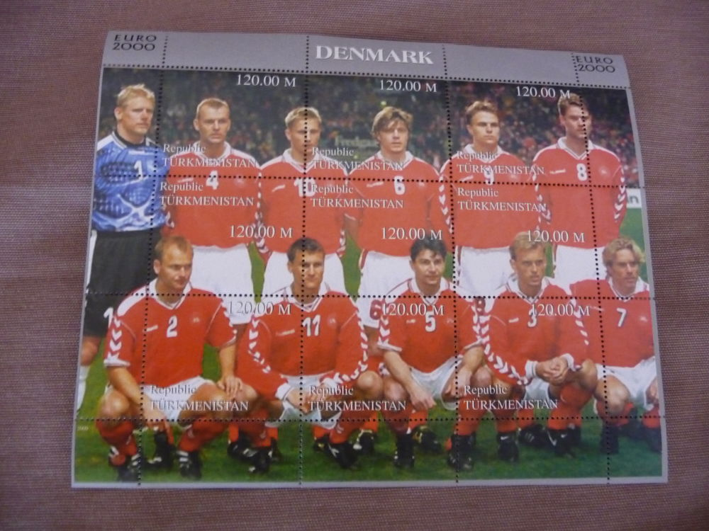 timbres foot euro 2000 equipe danemark neufs luxe** 5 Fabrègues (34)