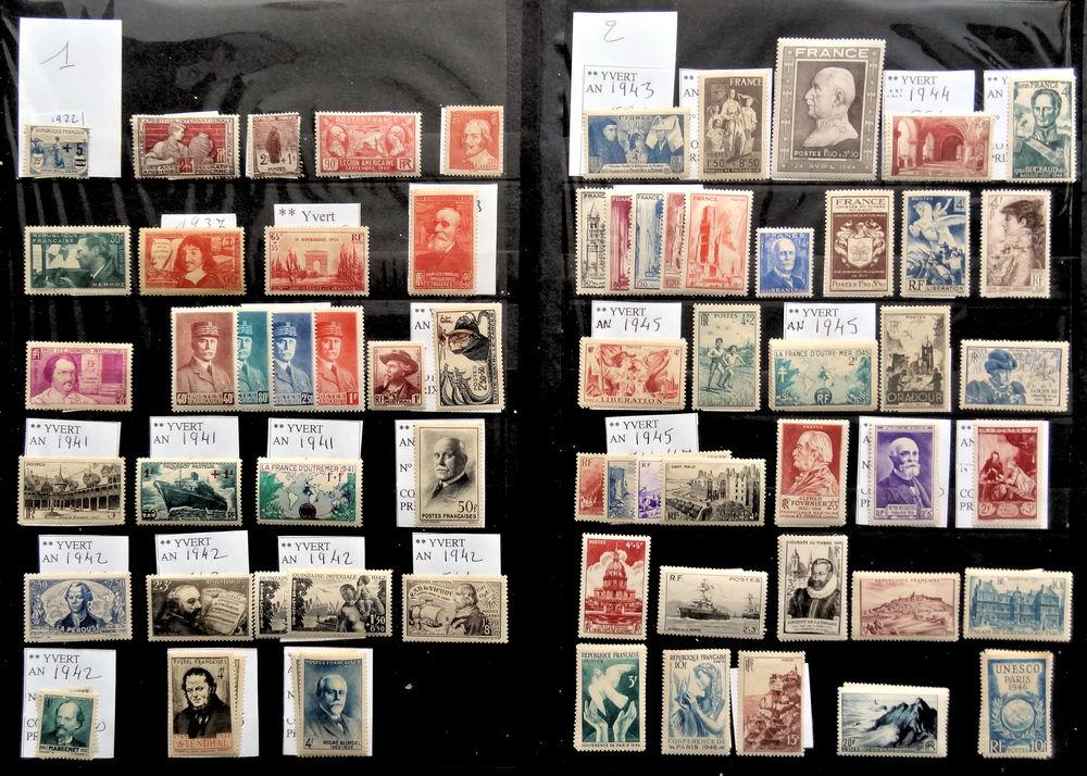 Timbres ** France 1922 à 1946 1 Chaumontel (95)