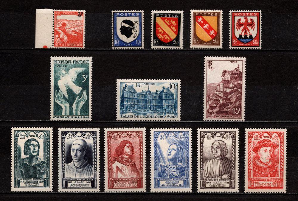 Lot Timbres France** de 1946, superbes. 4 Cholet (49)