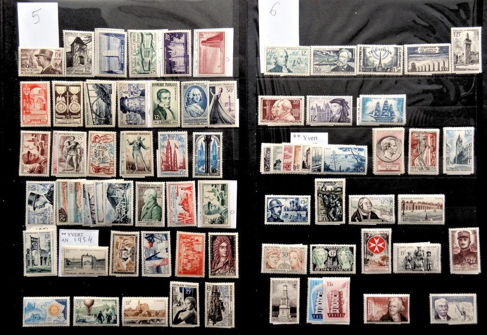Timbres ** France 1953 à 1956 1 Chaumontel (95)