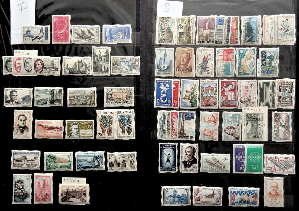 Timbres ** France 1957 à 1959 1 Chaumontel (95)