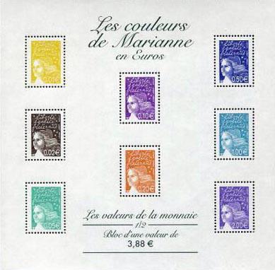 Timbres France BF 44 / 45 et 49     2002 18 Périgueux (24)