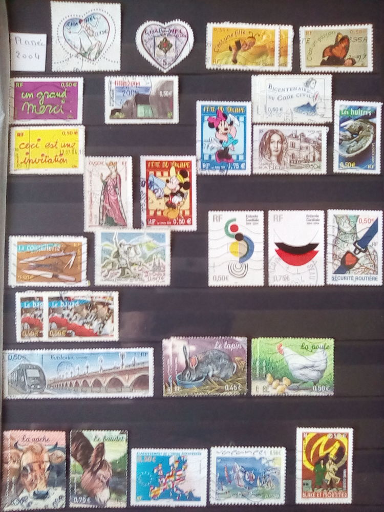 Timbres France 2004