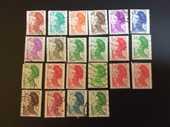 22 timbres de FRANCE  LIBERTE de GANDON  2 Les Églisottes-et-Chalaures (33)