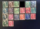 20 timbres de FRANCE  MARIANNE de GANDON  2 Les Églisottes-et-Chalaures (33)