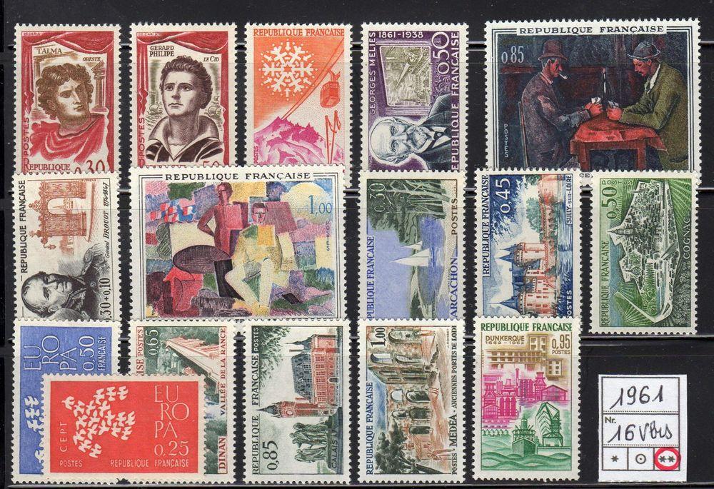 LOT DE TIMBRES   - FRANCE - Neuf**   1961 4 Caumont (09)