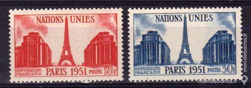 N° 911 & 912 Timbres France NEUFS** An 1951 1 La Seyne-sur-Mer (83)