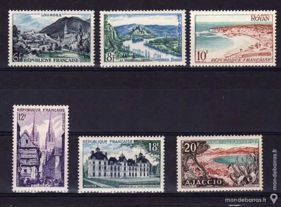 N° 976 à 981 Timbres France NEUFS ** An 1954