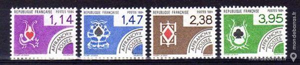 Timbres France NEUFS** Préoblitérés N° 182 à 185 1 La Seyne-sur-Mer (83)