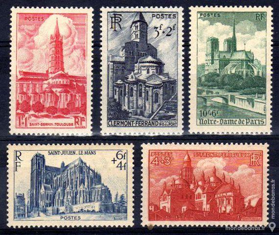 Timbres France NEUFS** N° 772 à 776 An 1947