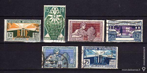 N° 210 à 215 Timbres France oblitérés 4 La Seyne-sur-Mer (83)