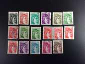17 timbres de FRANCE  LES SABINES' 2 Les Églisottes-et-Chalaures (33)