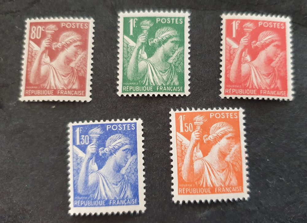 Timbres France 431 à 435 série neufs  40 c 1 Joué-lès-Tours (37)