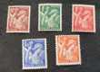 Timbres France 431 à 435 série neufs  40 c Joué-lès-Tours (37)