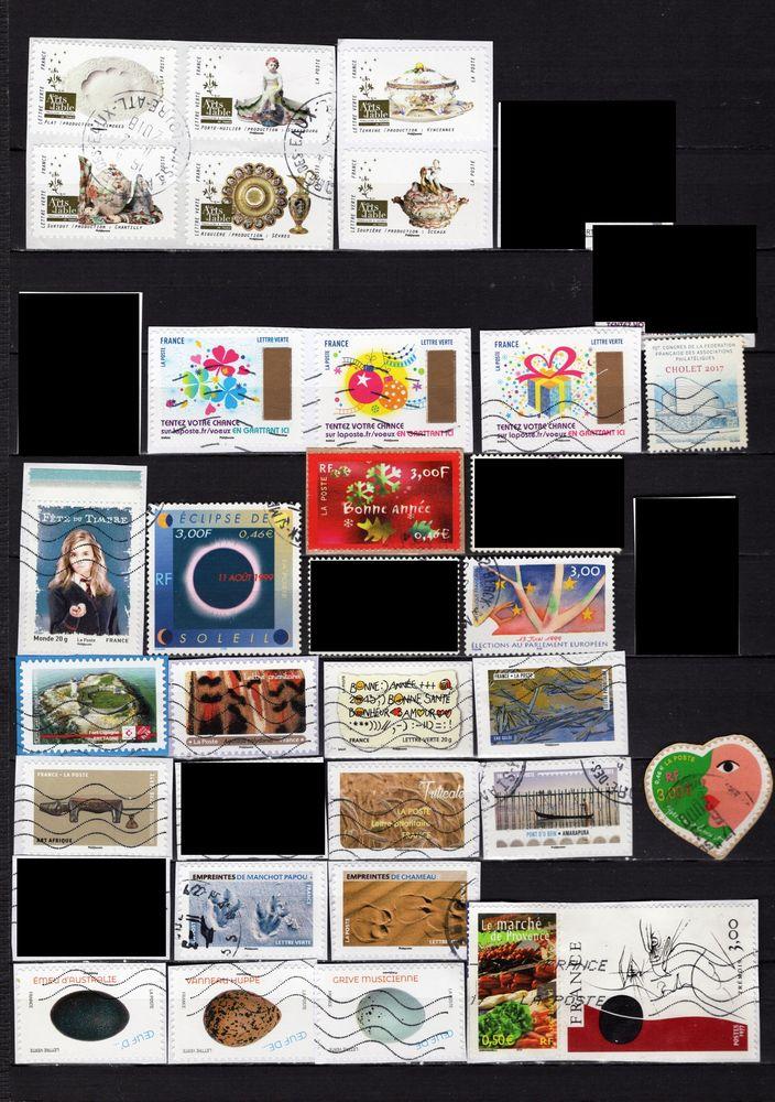 lot de 208 timbres de FRANCE 3 Les Églisottes-et-Chalaures (33)