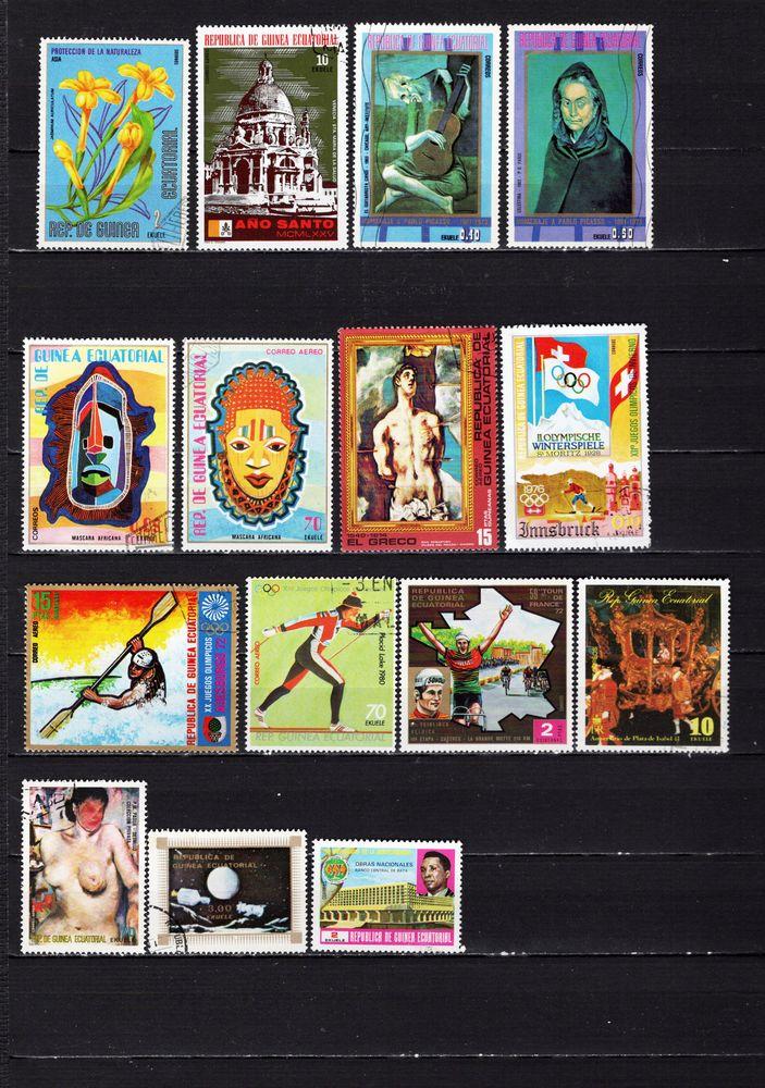 lot de 27 timbres de GUINEES