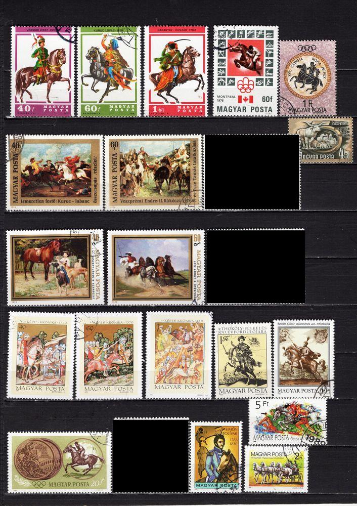 lot de 33 timbres de HONGRIE avec des CHEVAUX 2 Les Églisottes-et-Chalaures (33)