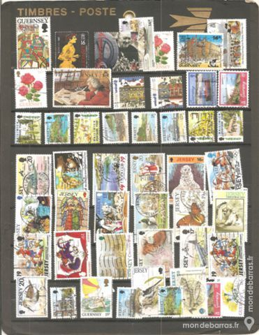 50 timbres jersey et guernesey 2 Dourges (62)