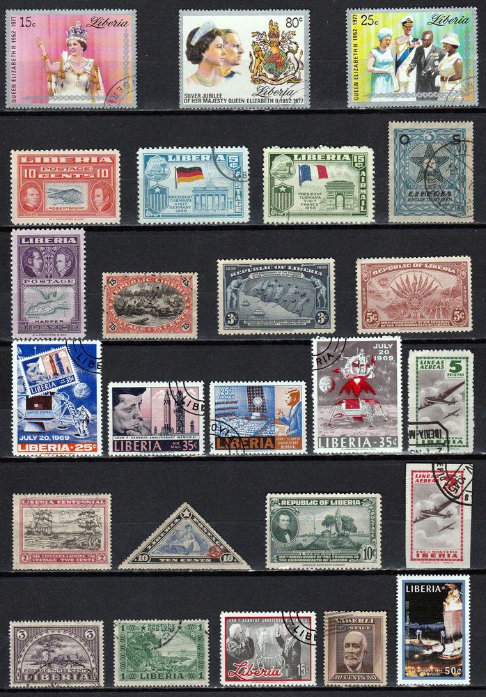 Lot timbres Liberia  14 Berre-l'Étang (13)