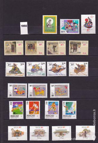 Timbres macao neufs annee complete 1992 TYPE 2 20 Joué-lès-Tours (37)