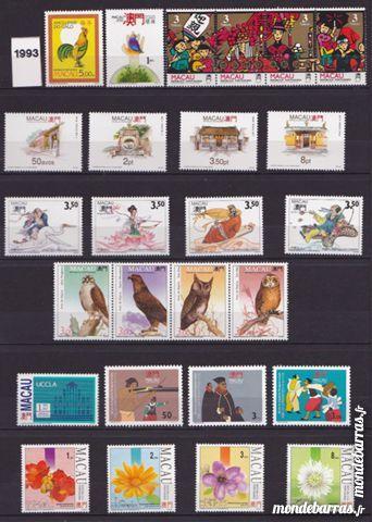 Timbres macao neufs année complète 1993+ blocs 28 Joué-lès-Tours (37)